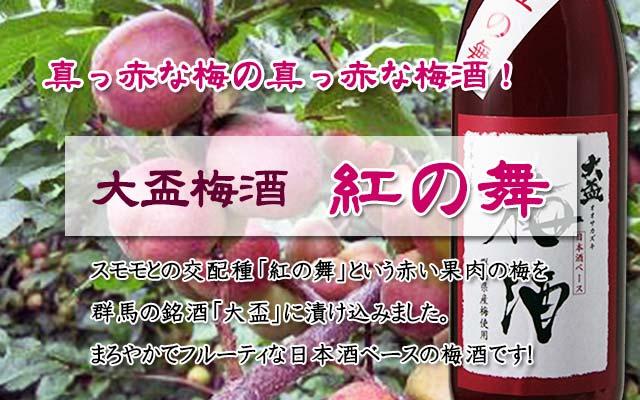 紅の舞/日本酒梅酒/大盃/牧野酒造/群馬の梅酒B